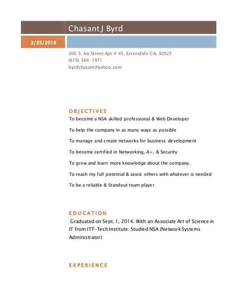 revised resume feb 2016