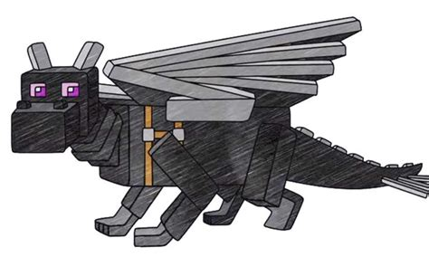 How To Draw Ender Dragon