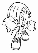 Knuckles Coloring Pages Name Print sketch template