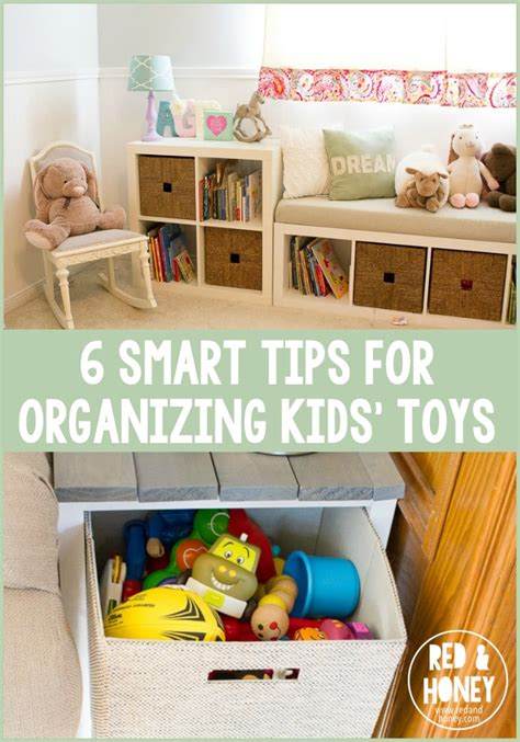 6 Smart Tips For Organizing Kids' Toys  Red And Honey