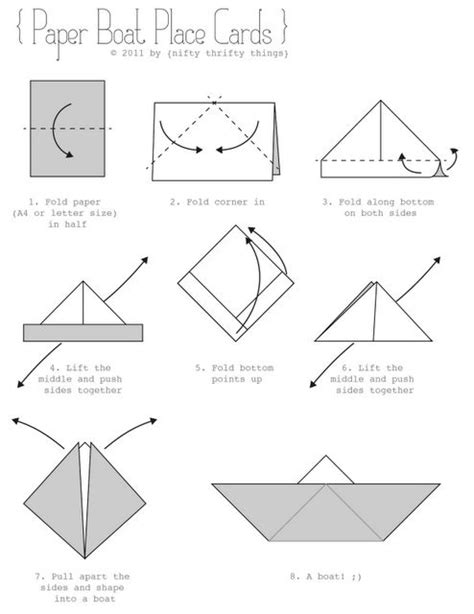 How To Make A Paper Boat Curious George by Paper Boat Place Cards Template Pictures On This Site