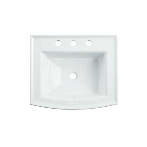 bathroom sink drain home depot kohler archer drop in vitreous china bathroom sink in