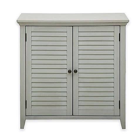 pulaski louvered bathroom storage cabinet  grey bed bath