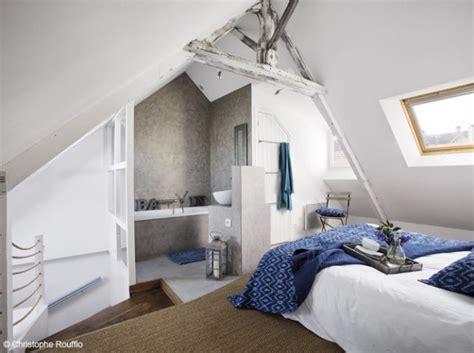 modele chambre parentale esprit bord de mer pour cette chambre à coucher sous les