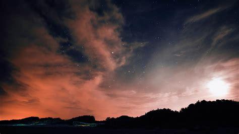 hd hintergrundbilder wolken sterne nacht himmel desktop