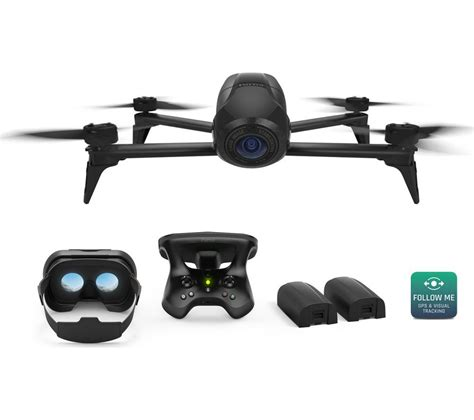buy parrot bebop  fpv power edition drone  skycontroller  black  delivery currys