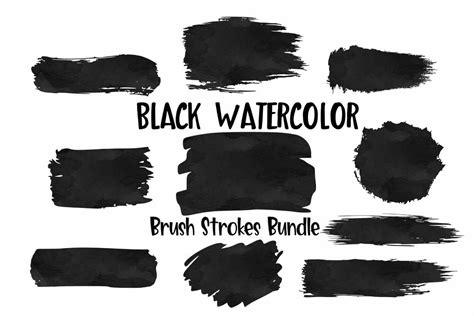 Similar design products to brush stroke svg bundle keychain background pattern template. Black Watercolor Brush Strokes Background Bundle PNG