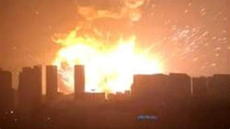 tianjin port city  china shaken  massive explosion