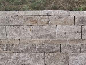 Steine Für Trockenmauer : travertin mauersteine f r gartenmauer in silver grau ~ Michelbontemps.com Haus und Dekorationen