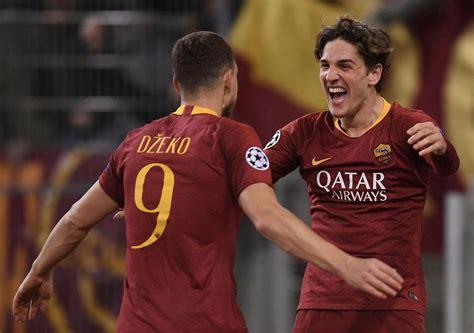 youngster zaniolo leads roma     leg win  porto