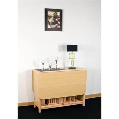 bureau rabattable mural table console avec chaise integree