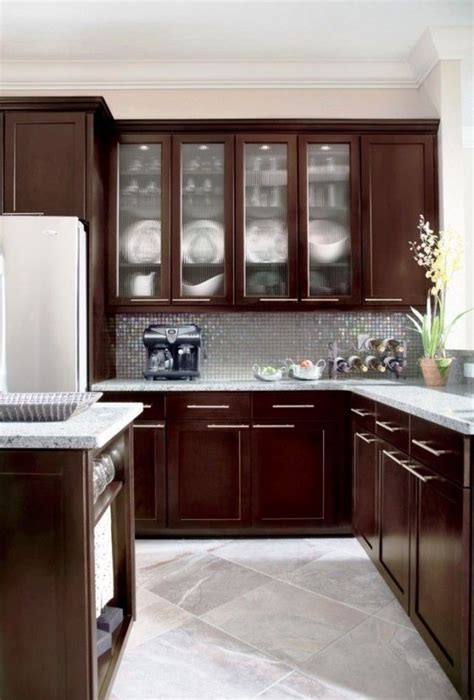 Beautiful Small Kitchen Ideas With Maple Espresso Cabinets