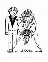 Coloring Groom Pages Bride Brides Colouring Grooms Couple Printable Children Bri Popular sketch template