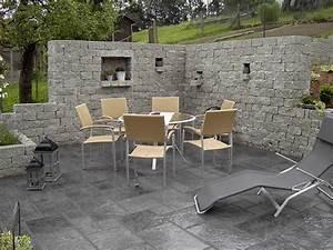 Gartenmauern Aus Stein : dunkle farben farbwelten terrassenplatten ~ Michelbontemps.com Haus und Dekorationen