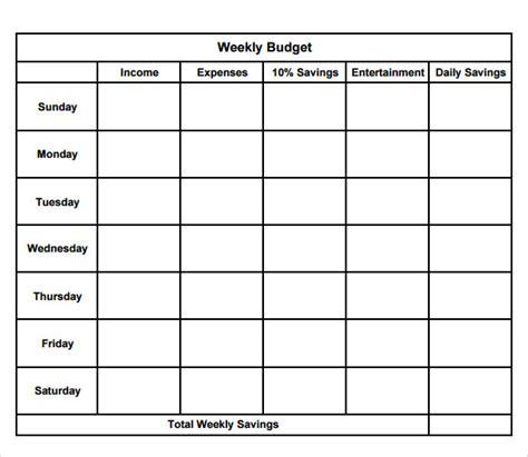 printable weekly budget planner