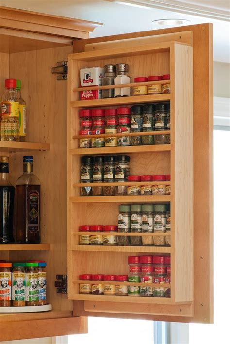 Pantry Door Mounted Spice Rack by 24 Designs Patterns For Your New Spice Rack