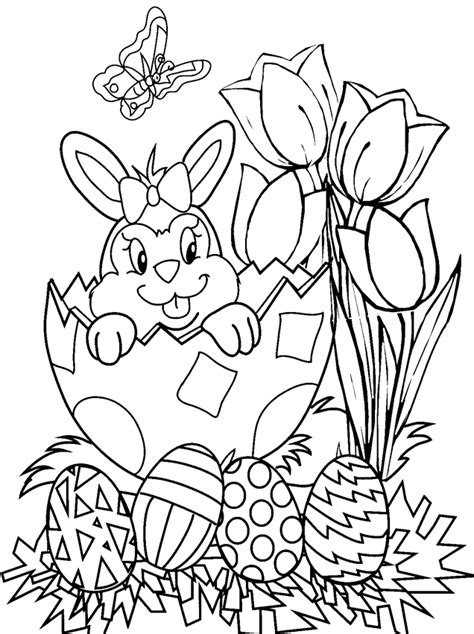 easter crafts coloring pages png  file