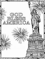 Coloring July Pages Fourth God 4th Bless America Books Happy Adult Patriotic Christianbook Need Adults Easy Children Take Mandala sketch template