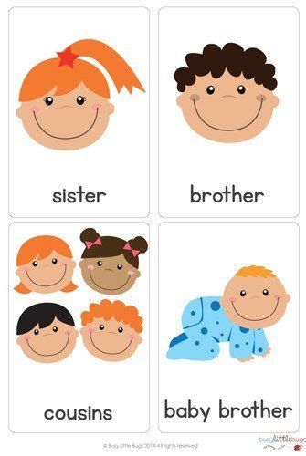 There Are 28 Brightly Coloured, High Quality Printable Flash Cards,all About Families Flash