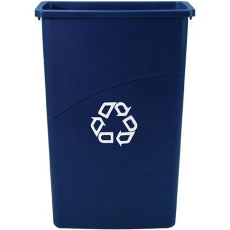 fgblue slim jim recycling receptacle blue  gal