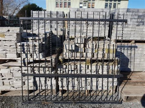 black wrought gate fence section musgroves