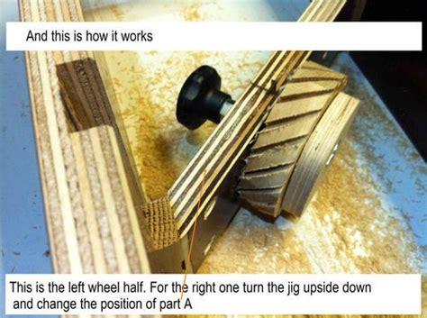 combine  jig  making tractor wheels wooden toy