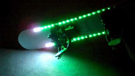 snowboard led lights led snowboard motion controlled lighting demos
