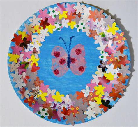 Butterfly In Spring Garden Craft Allfreekidscraftscom