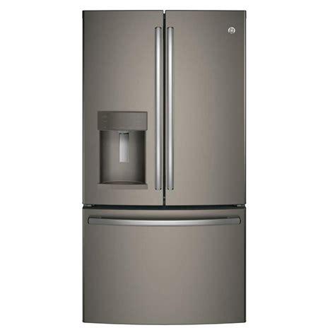 ge 22 2 cu ft french door refrigerator in slate counter