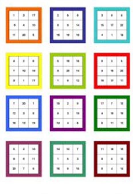 english worksheets numbers 1 20 bingo