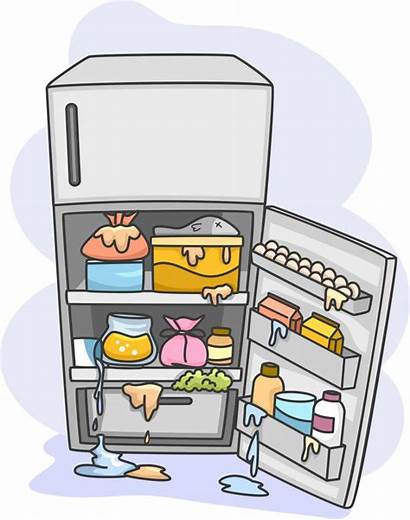 Clipart Refrigerator Fridge Cleaning Office Messy Clip