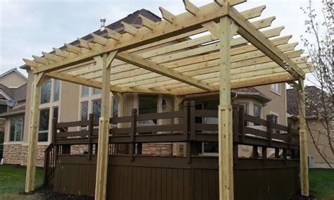 pergola design ideas building a pergola on a deck pergola plans on existing deck delta wood