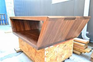 custom trapezoid walnut coffee table solid wood by With solid walnut wood coffee table