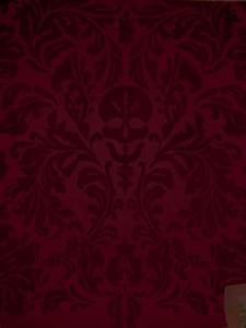 Dunke Design Senor Skullingwell Flock Velvet Burgundy Red Raisin