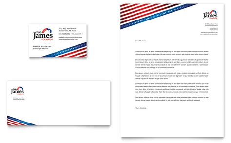 political campaign business card letterhead template design