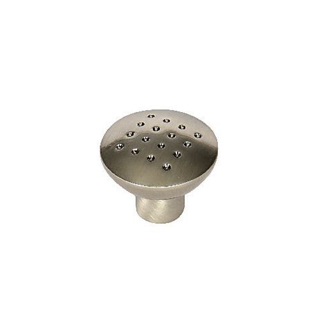 Brushed Nickel Cabinet Knobs Bulk by Wickes Dimple Knobs Brushed Nickel Finish 32mm 6 Pack