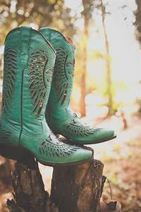 Women's ladies cowboy boots turquoise leather sequins ...