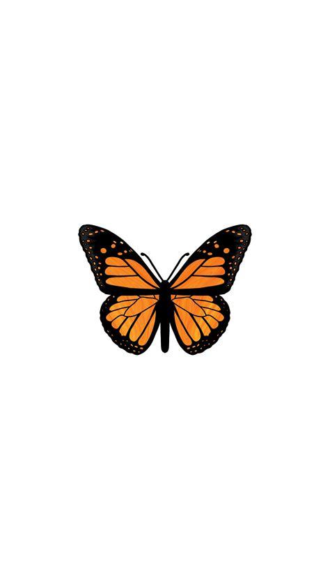 orange butterfly iphone wallpaper butterfly wallpaper