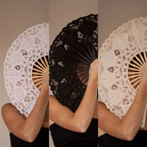 hand fans for wedding lace spanish hand fan party wedding black ivory white ebay