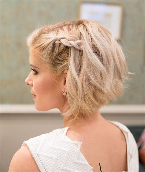 braided short hair tutorial like kate mara on james