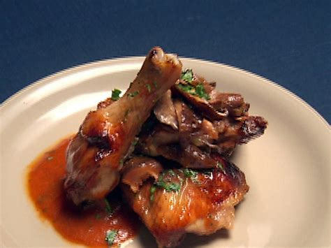 demi glace recipe chicken with mushroom demi glace and figs recipe robert irvine food network