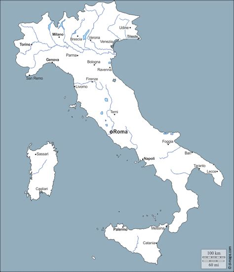 italy  map  blank map  outline map