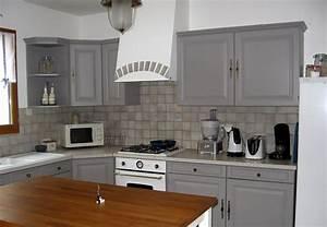stunning meuble de cuisine gris clair photos lalawgroup With meuble cuisine gris clair
