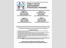 TRAINING Family Youth Engagement Strategies – Cabell
