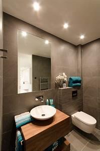 luminaire salle de bains et amenagement en 53 idees cool With carrelage adhesif salle de bain avec luminaire led moderne