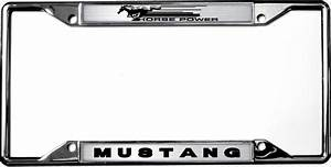 2015-2019 Mustang License Plate Frame Chrome - RPIDesigns.com
