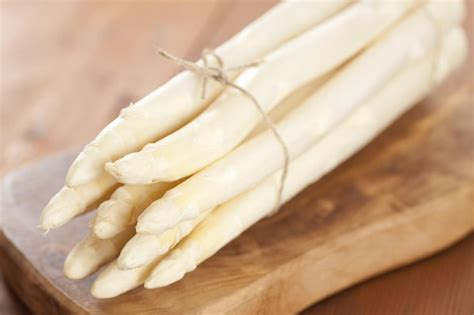 white asparagus german spargel or white asparagus cooking