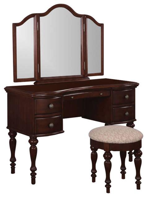 powell furniture vanity powell furniture marquis cherry wood makeup vanity table