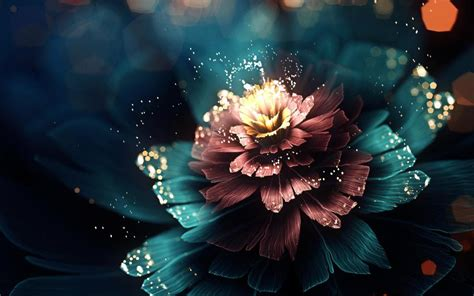 Flowers Images Hd 3d Wallpapers by Digital Flower Wallpaper 3d And Abstract Wallpaper Better