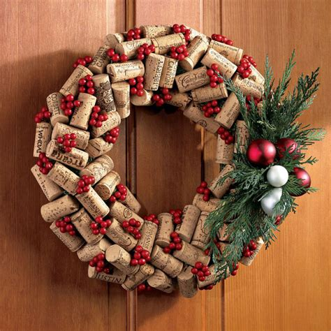 wine cork wreath holiday